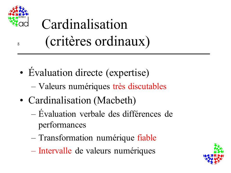 Cardinalisation (critères ordinaux)
