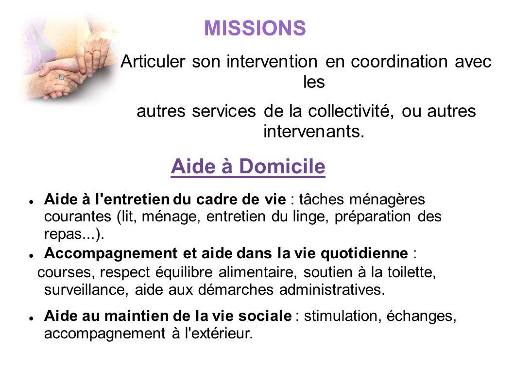 MISSIONS Aide à Domicile
