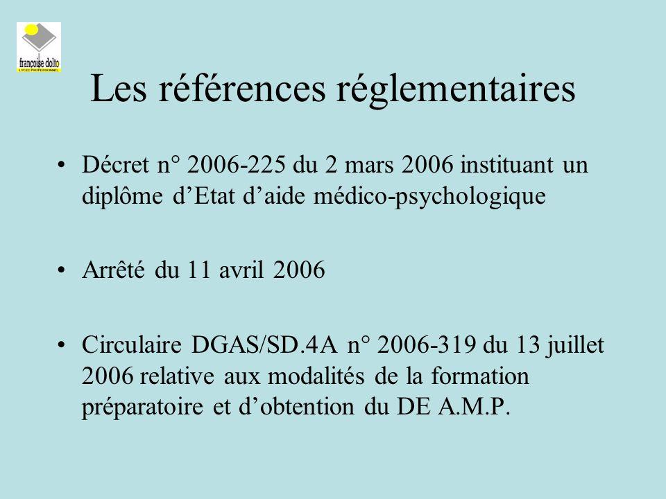 Les références réglementaires