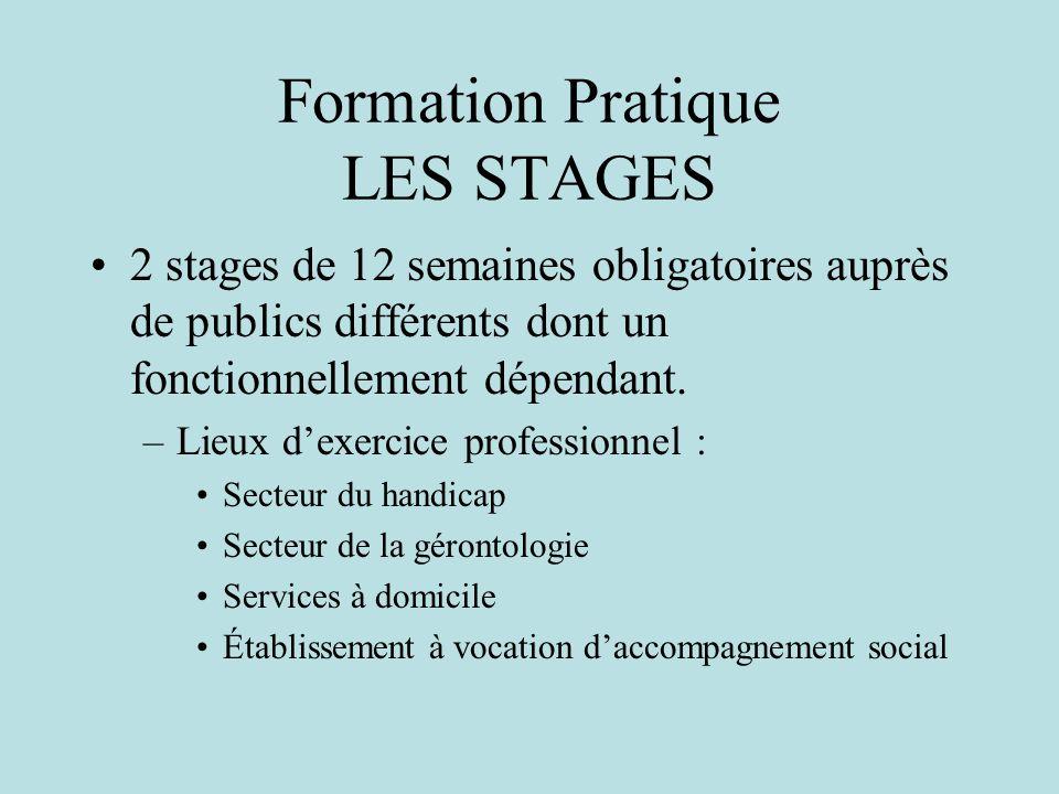 Formation Pratique LES STAGES
