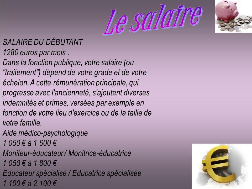 Le salaire SALAIRE DU DÉBUTANT 1280 euros par mois .