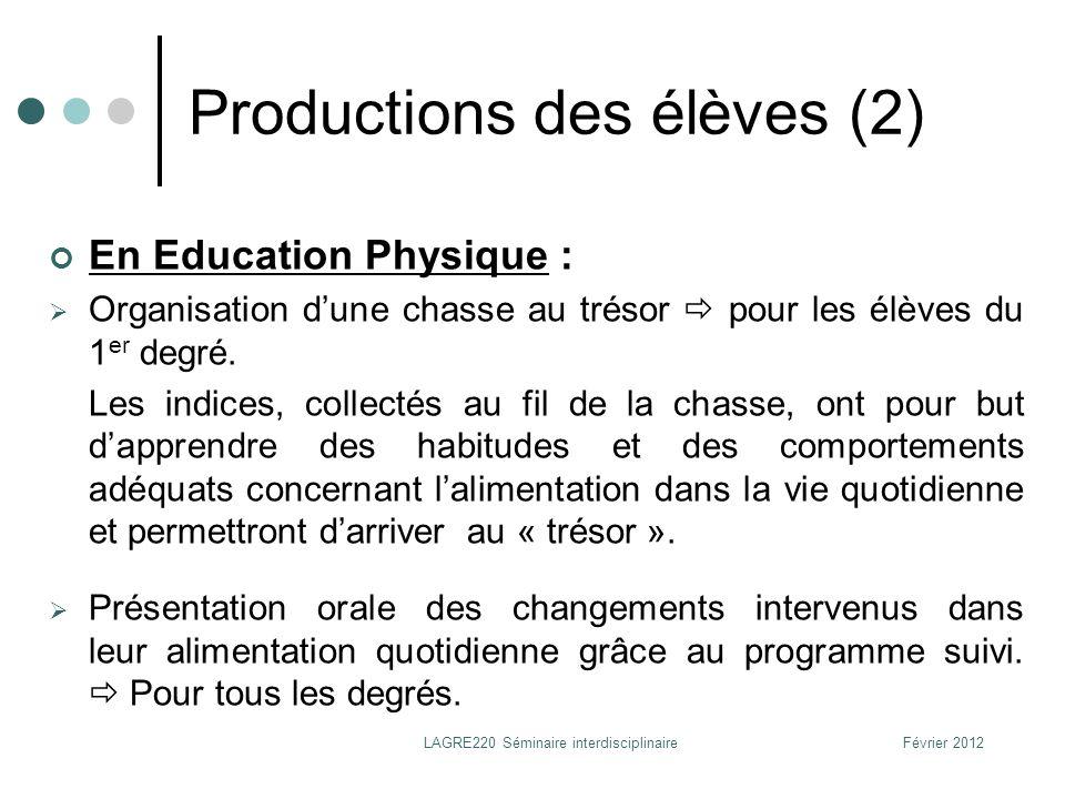 Productions des élèves (2)