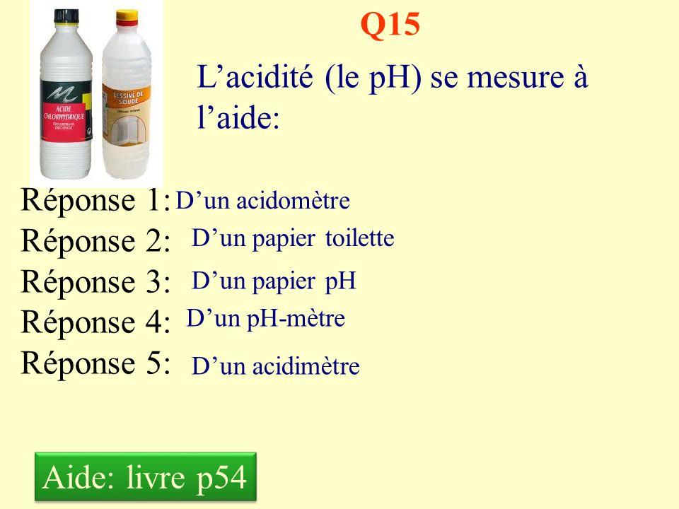L'acidité (le pH) se mesure à l'aide: