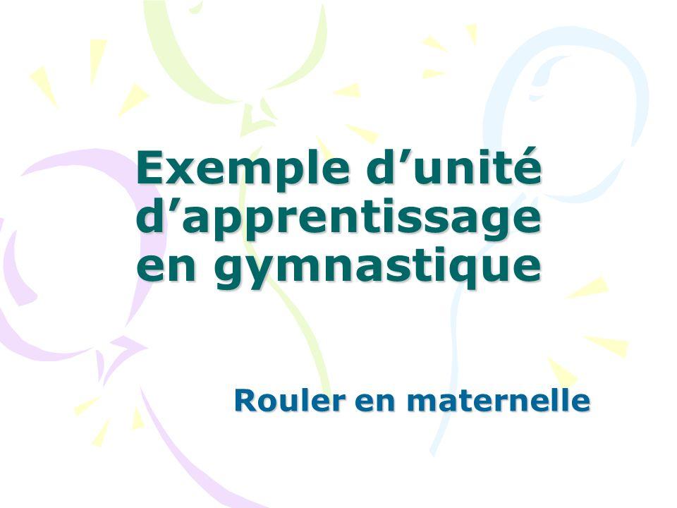 Exemple d'unité d'apprentissage en gymnastique