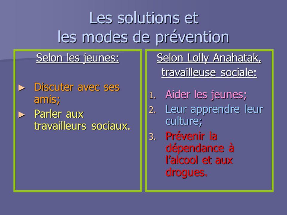 Les solutions et les modes de prévention