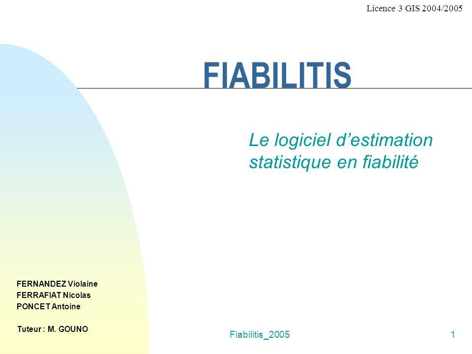 FERRAFIAT Nicolas Le logiciel d'estimation statistique en fiabilité