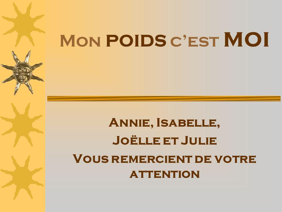 Annie, Isabelle, Joëlle et Julie Vous remercient de votre attention