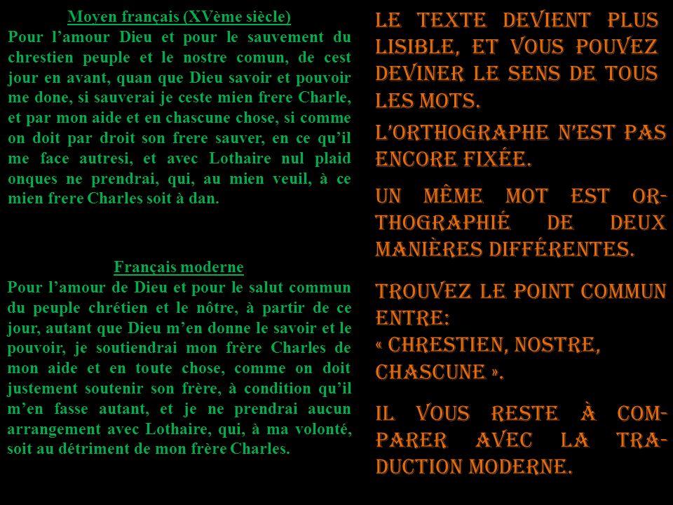 Moyen français (XVème siècle)