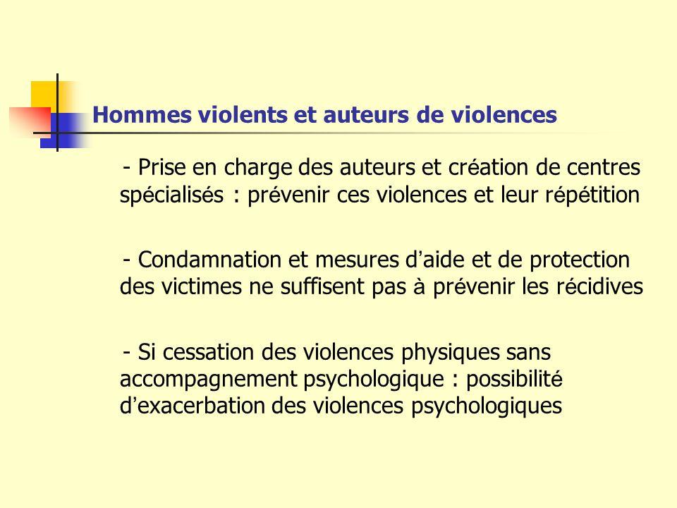 Hommes violents et auteurs de violences