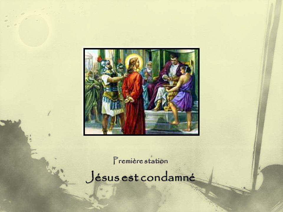 Première station Jésus est condamné