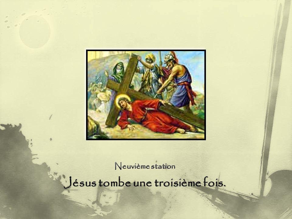 Jésus tombe une troisième fois.