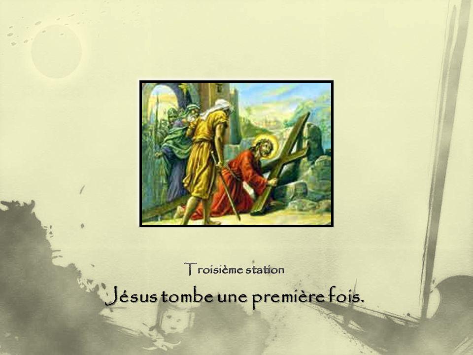 Jésus tombe une première fois.