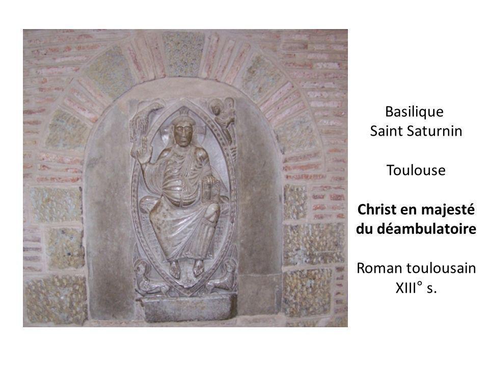 Basilique Saint Saturnin Toulouse Christ en majesté du déambulatoire Roman toulousain XIII° s.
