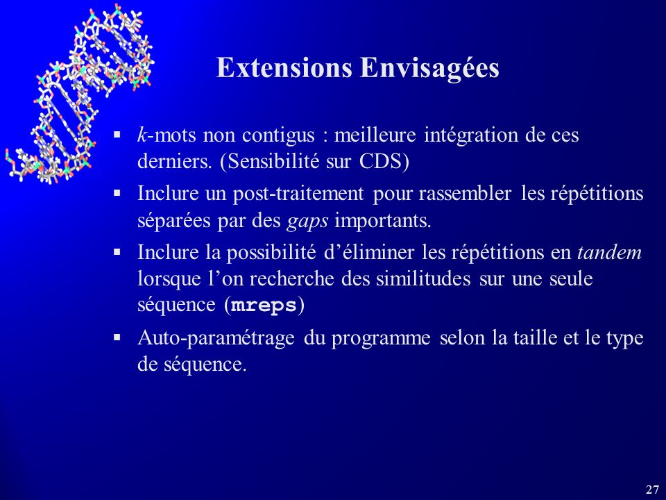 Extensions Envisagées