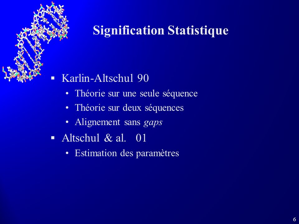 Signification Statistique
