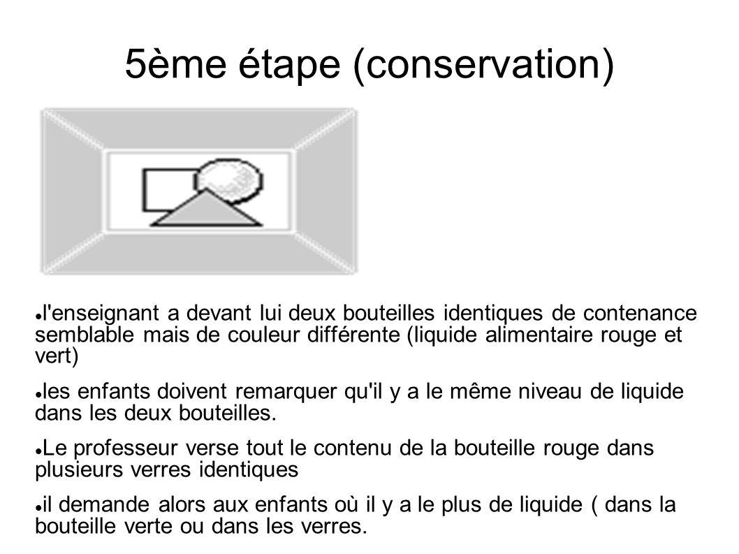 5ème étape (conservation)