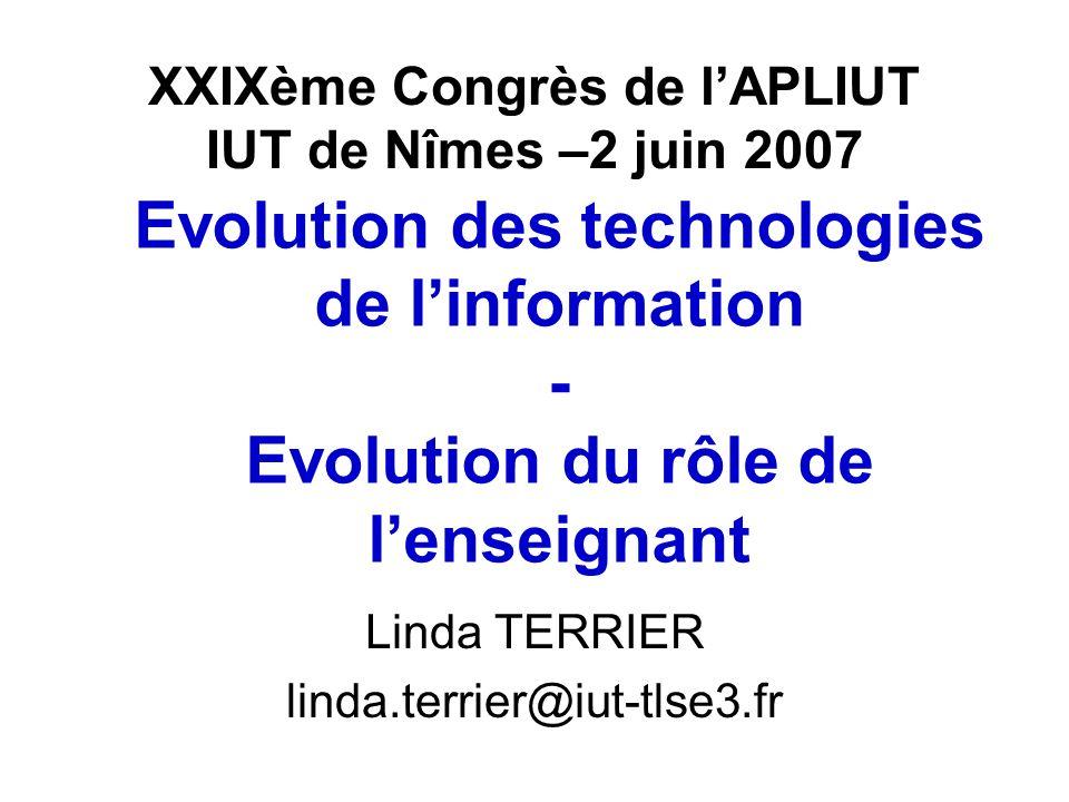XXIXème Congrès de l'APLIUT IUT de Nîmes –2 juin 2007