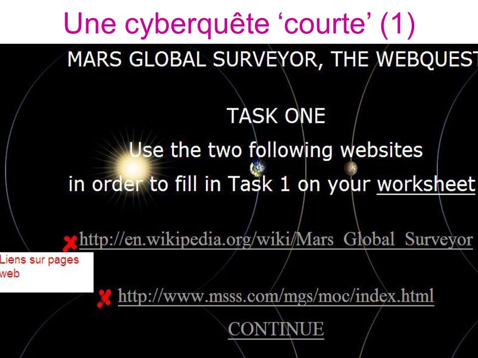 Une cyberquête 'courte' (1)
