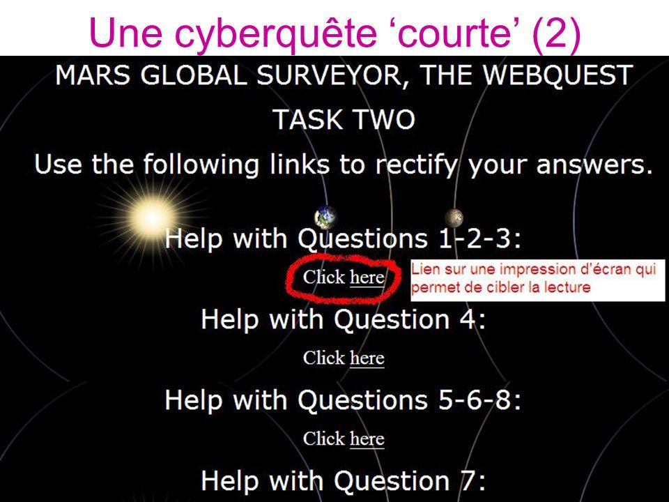 Une cyberquête 'courte' (2)