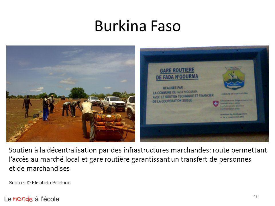 Burkina Faso Soutien à la décentralisation par des infrastructures marchandes: route permettant.