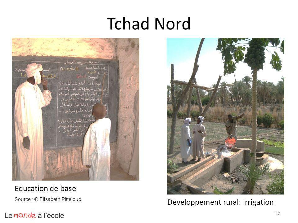 Tchad Nord Education de base Développement rural: irrigation