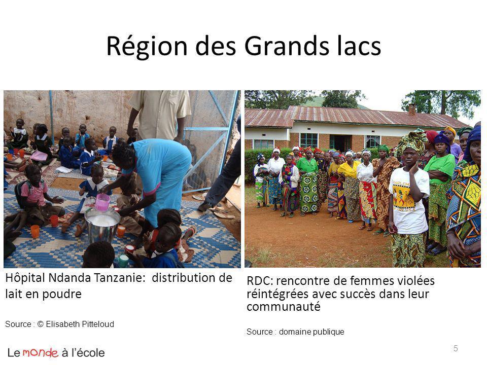 Région des Grands lacs Hôpital Ndanda Tanzanie: distribution de lait en poudre.