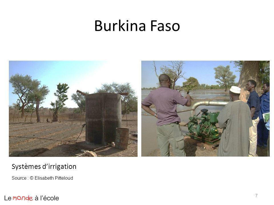 Burkina Faso Systèmes d'irrigation Source : © Elisabeth Pitteloud