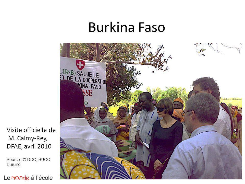 Burkina Faso Visite officielle de M. Calmy-Rey, DFAE, avril 2010