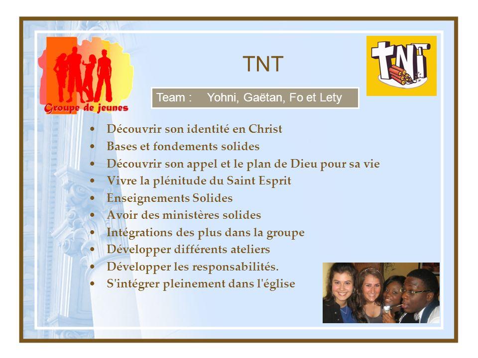 TNT Team : Yohni, Gaëtan, Fo et Lety Découvrir son identité en Christ
