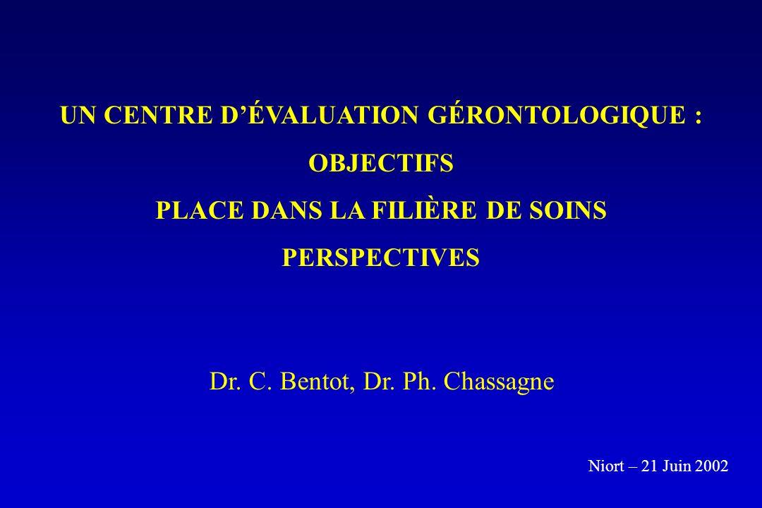 UN CENTRE D'ÉVALUATION GÉRONTOLOGIQUE : PLACE DANS LA FILIÈRE DE SOINS