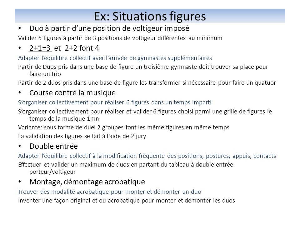 Ex: Situations figures