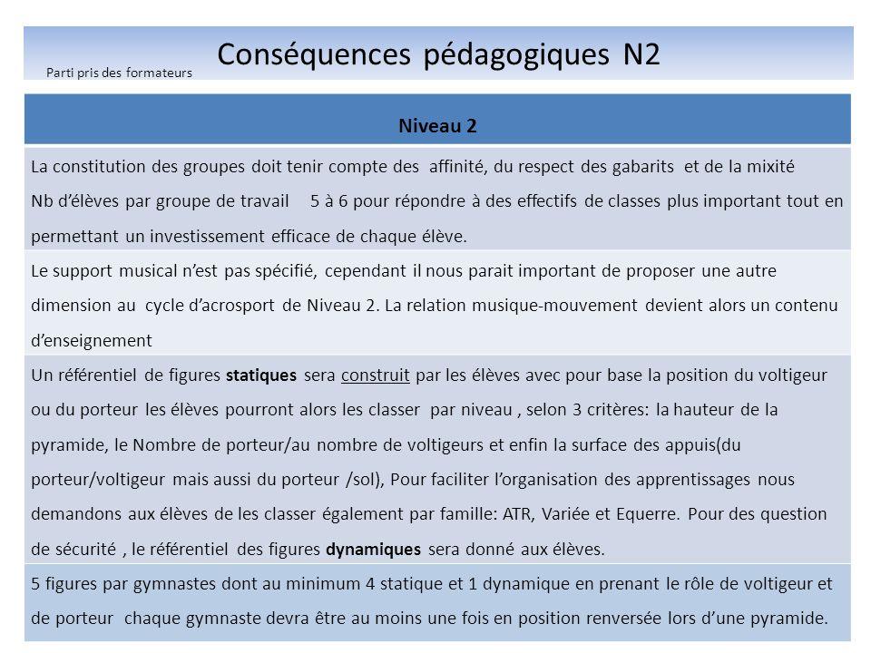 Conséquences pédagogiques N2