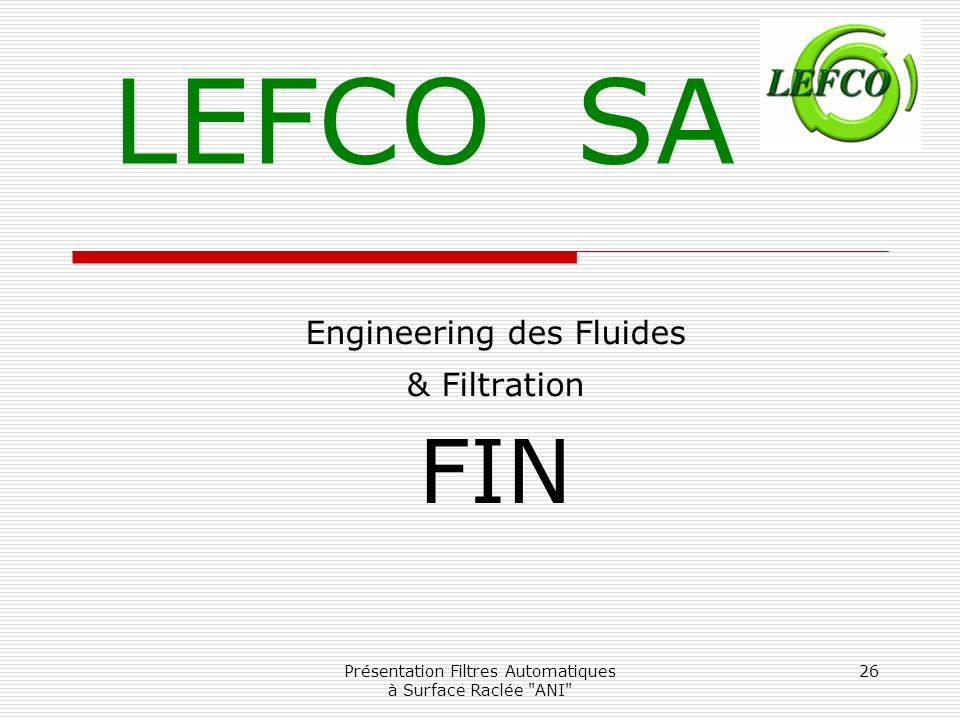 Engineering des Fluides & Filtration FIN