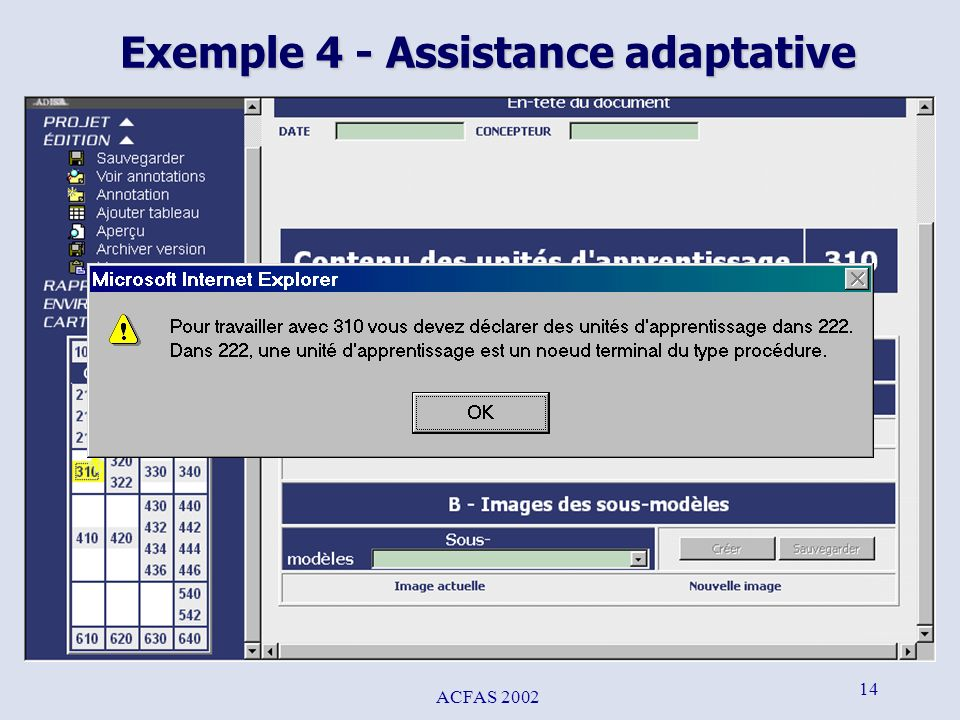 Exemple 4 - Assistance adaptative