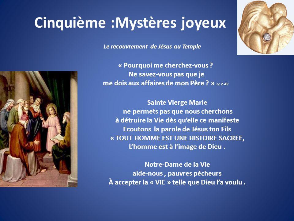Cinquième :Mystères joyeux