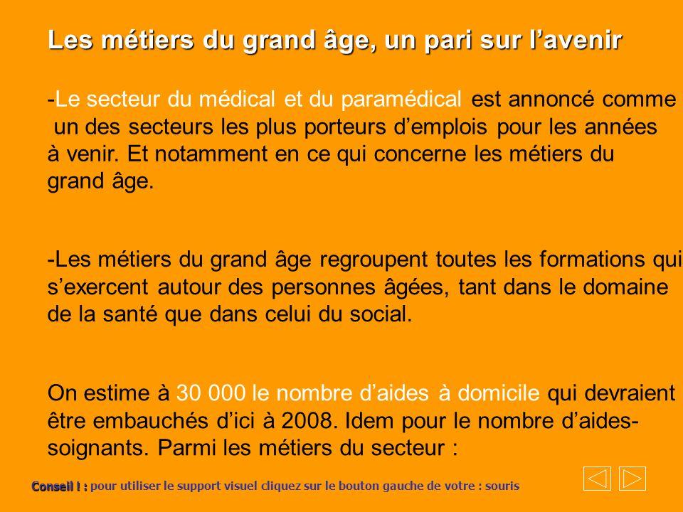 Les métiers du grand âge, un pari sur l'avenir