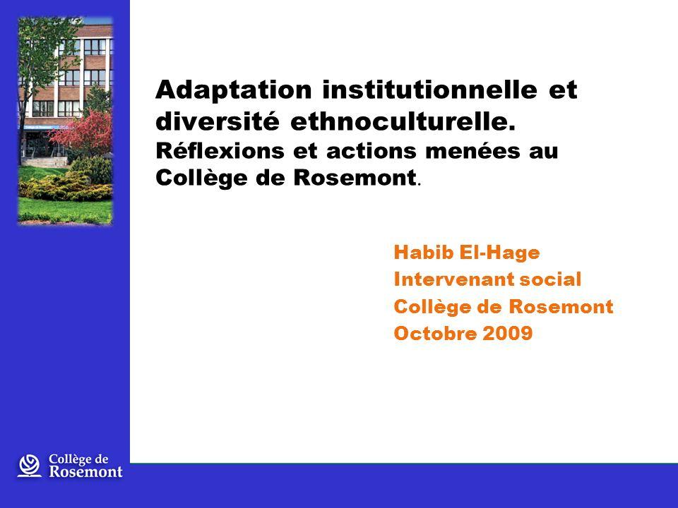 Adaptation institutionnelle et diversité ethnoculturelle