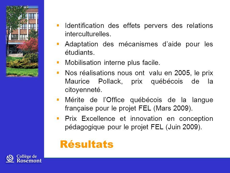 Identification des effets pervers des relations interculturelles.