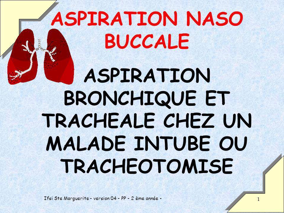 ASPIRATION NASO BUCCALE