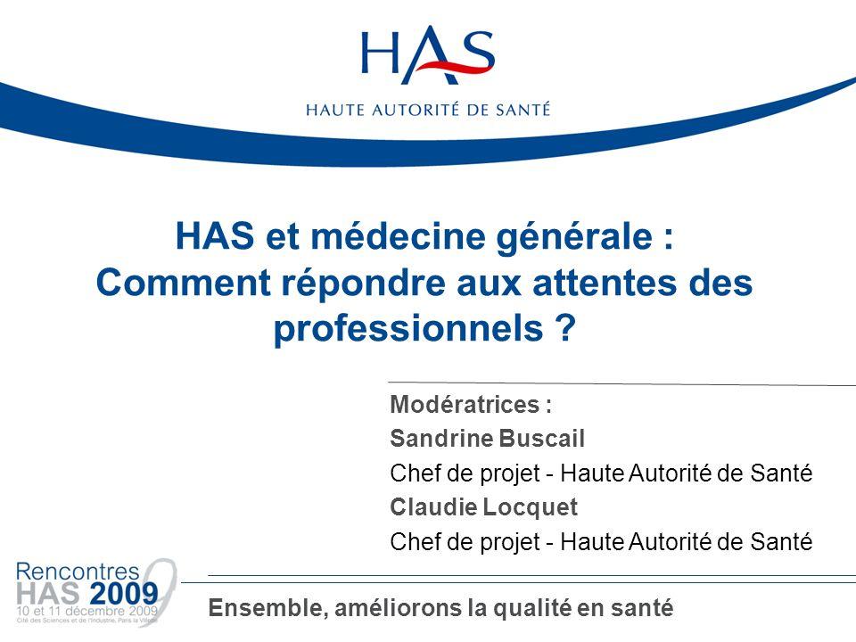 HAS et médecine générale :