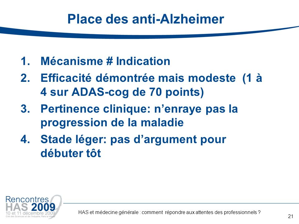 Place des anti-Alzheimer