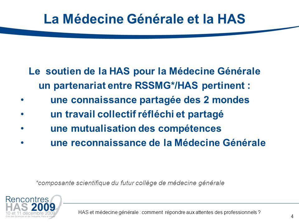 La Médecine Générale et la HAS