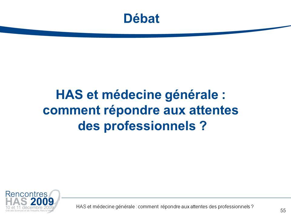 Débat HAS et médecine générale : comment répondre aux attentes des professionnels