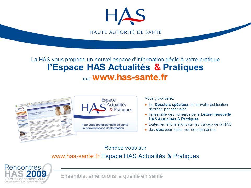l'Espace HAS Actualités & Pratiques