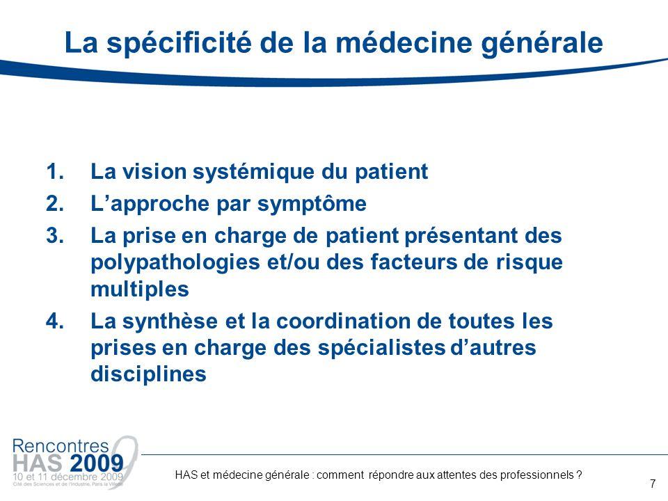 La spécificité de la médecine générale