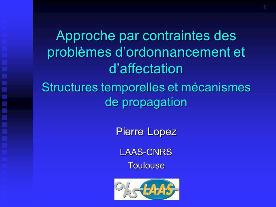 Structures temporelles et mécanismes de propagation