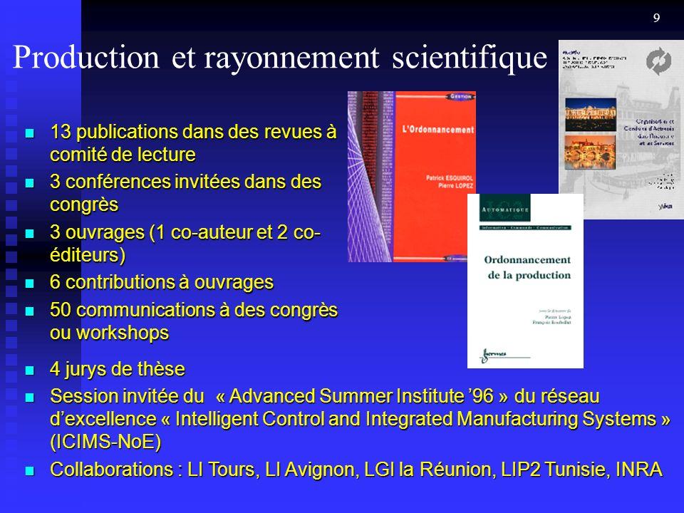 Production et rayonnement scientifique