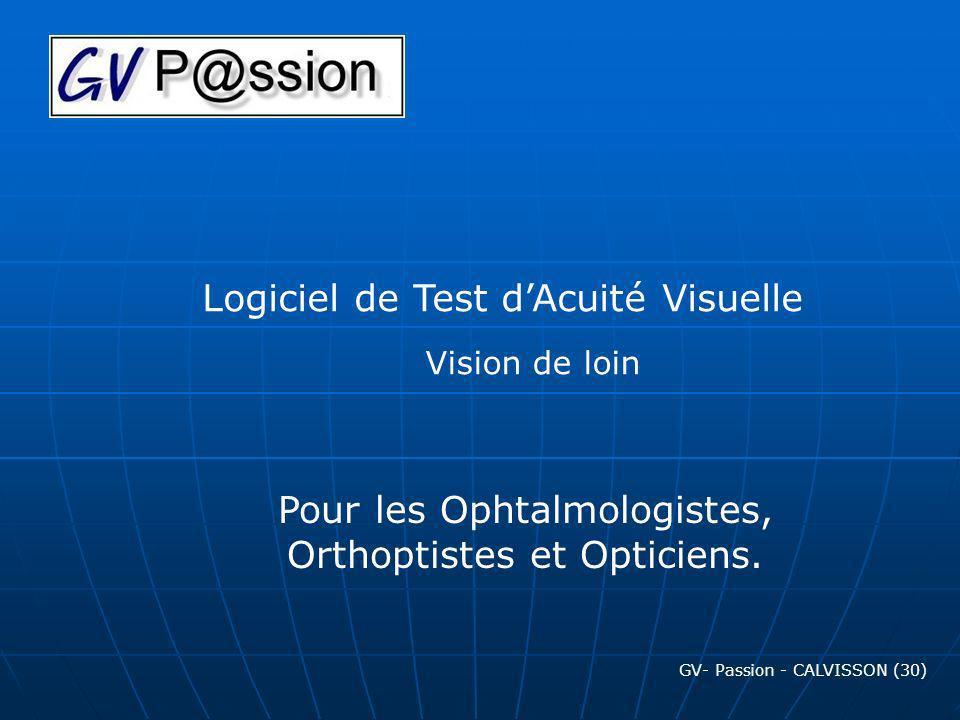 Logiciel de Test d'Acuité Visuelle