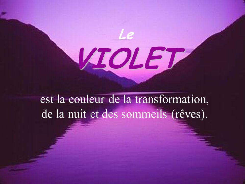 VIOLET Le est la couleur de la transformation,