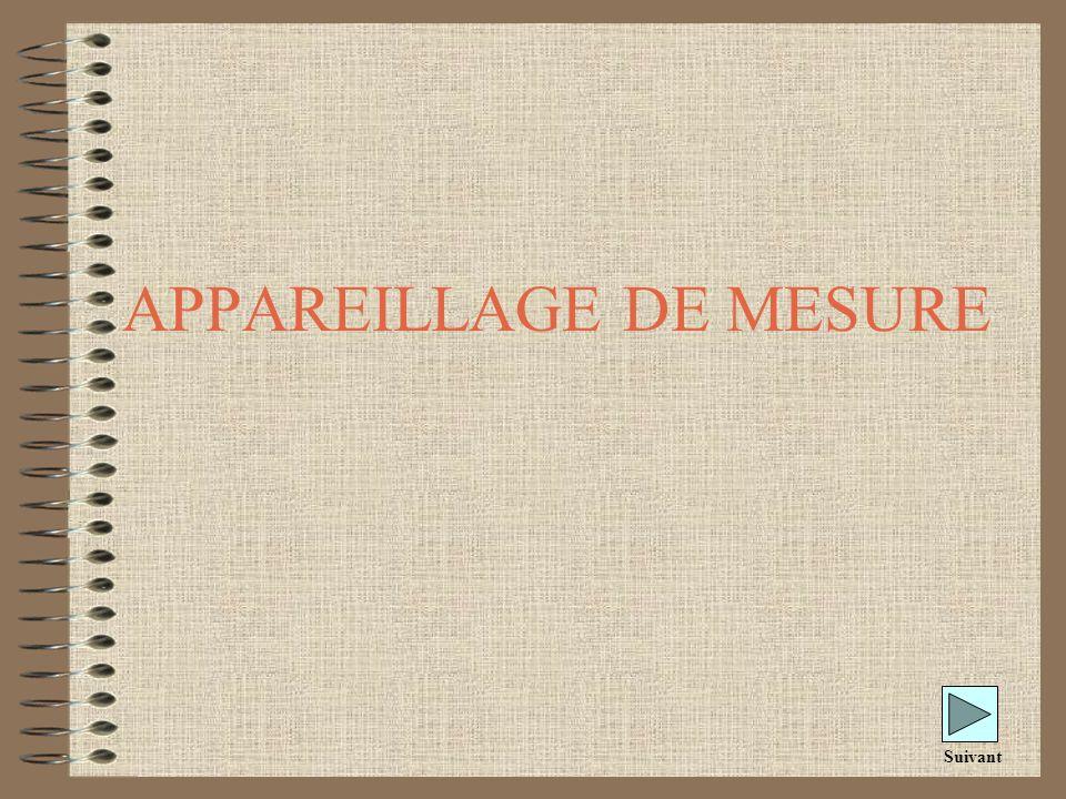 APPAREILLAGE DE MESURE